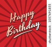happy birthday theme text... | Shutterstock . vector #1057691855