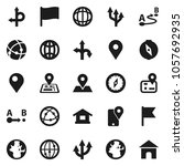 flat vector icon set   compass... | Shutterstock .eps vector #1057692935