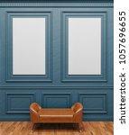 poster frame mockup. mock up. | Shutterstock . vector #1057696655