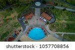 aerial view of swimming pool... | Shutterstock . vector #1057708856