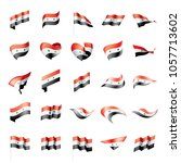 syria flag  vector illustration | Shutterstock .eps vector #1057713602