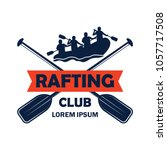 rafting logo with text space... | Shutterstock .eps vector #1057717508