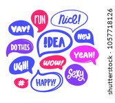 fun  nice  yay  idea  new  yeah ... | Shutterstock .eps vector #1057718126