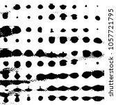abstract grunge grid stripe... | Shutterstock .eps vector #1057721795