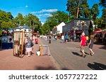 jurmala  latvia   july  2017 ... | Shutterstock . vector #1057727222