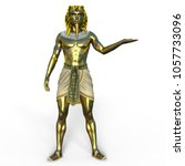 3d cg rendering of a pharaoh | Shutterstock . vector #1057733096