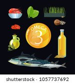 omega 3. polyunsaturated fatty... | Shutterstock .eps vector #1057737692