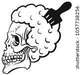 monochrome illustration of  a...   Shutterstock .eps vector #1057738256