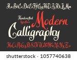 modern calligraphic handcrafted ... | Shutterstock .eps vector #1057740638