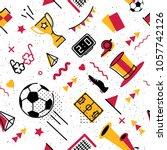 soccer football abstract... | Shutterstock .eps vector #1057742126