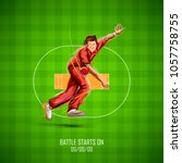 illustration of bowler bowling... | Shutterstock .eps vector #1057758755