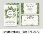 wedding invitations  rsvp... | Shutterstock .eps vector #1057760072