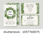 wedding invitations  rsvp... | Shutterstock .eps vector #1057760075