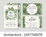 wedding invitations  rsvp... | Shutterstock .eps vector #1057760078