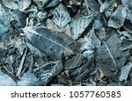 leaves burned for background... | Shutterstock . vector #1057760585