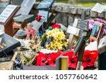 memorial place for the fallen... | Shutterstock . vector #1057760642