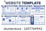 website page set design vector. ...