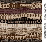 coffee. abstract coffee pattern ... | Shutterstock .eps vector #1057769996