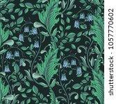 seamless floral green pattern.... | Shutterstock .eps vector #1057770602