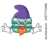 elf macaron character cartoon... | Shutterstock .eps vector #1057773488