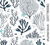 Seamless Pattern Sea Coral Reef ...