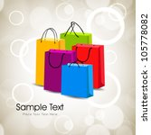 colorful shopping bags. eps 10. | Shutterstock .eps vector #105778082