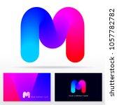 letter m logtype design   stock ... | Shutterstock .eps vector #1057782782