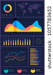 infographic dashboard template... | Shutterstock .eps vector #1057783652