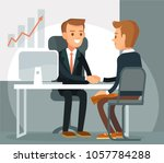 business meeting with... | Shutterstock .eps vector #1057784288