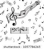 a wonderful musical note... | Shutterstock .eps vector #1057786265
