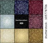 set of vintage color seamless ... | Shutterstock .eps vector #105778706