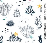 seamless hand drawn pattern... | Shutterstock .eps vector #1057790498