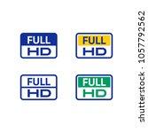 full hd icon | Shutterstock .eps vector #1057792562