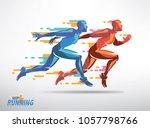 running athletes vector symbol  ... | Shutterstock .eps vector #1057798766