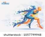 running athletes  sport and... | Shutterstock .eps vector #1057799948