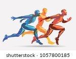 running athletes vector symbol  ...   Shutterstock .eps vector #1057800185
