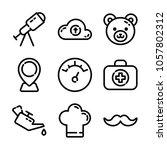essentials icon set | Shutterstock .eps vector #1057802312