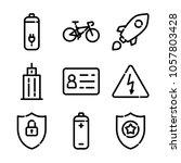 essentials icon set | Shutterstock .eps vector #1057803428