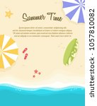 poster of summer day collection | Shutterstock .eps vector #1057810082