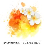 abstract travel background with ... | Shutterstock .eps vector #1057814078