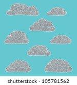 grey clouds | Shutterstock .eps vector #105781562