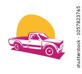 pick up truck car vector logo... | Shutterstock .eps vector #1057823765