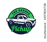 pick up truck car vector logo... | Shutterstock .eps vector #1057824728