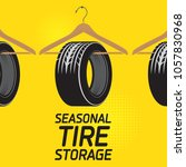 vintage tire service or garage... | Shutterstock .eps vector #1057830968
