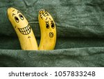 one banana sticks to another.... | Shutterstock . vector #1057833248