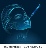 young woman gets injection of... | Shutterstock .eps vector #1057839752