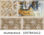 colorful oil paint wall pattern ... | Shutterstock . vector #1057841612
