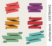 retro style vector banner and... | Shutterstock .eps vector #105784442