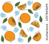 orange paradise bright juicy... | Shutterstock .eps vector #1057845695