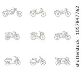 monochrome vector set with... | Shutterstock .eps vector #1057847762